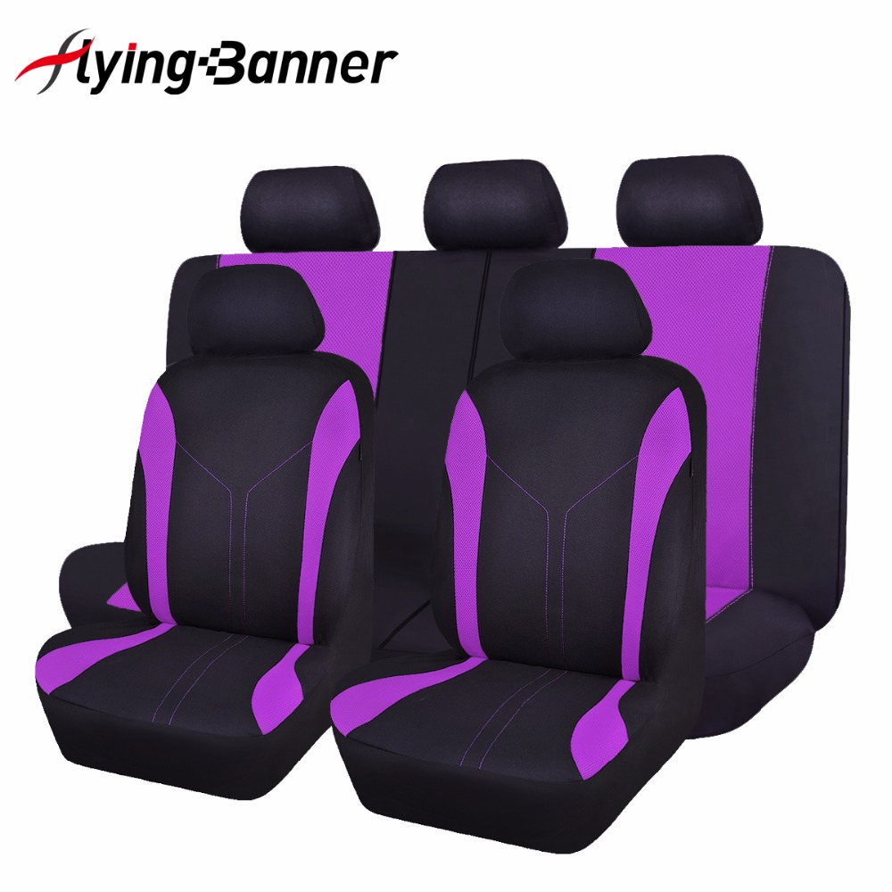 flyingbanner High Quality Mesh Cloth Car Seat Cover Universal Fit Most Vehicles Seats Interior Accessories Seat