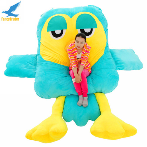 Fancytrader Giant Plush Soft Stuffed Owl Sofa Bed Beanba Sleeping Bed Mattress 2 Colors, Nice Gift FT90901 (4)