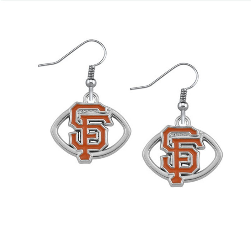 San Francisco 49ers football drip earrings