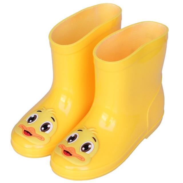 70283a895fd US $12.98 |Cute Yellow Duck Rubber Boots Children Boots For Girls Boys Kids  Cartoon Rainboots Candy Color Antiskid Rain Boot Waterproof -in Umbrella ...