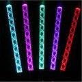 12 unids/lote LED que brilla intensamente arcylic palo colores que cambian hilo luminoso palo decoración del partido concierto que agita luz de flash del palillo