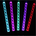 12pcs/lot LED glowing arcylic stick colors changing luminous thread stick party decoration concert waving flash light stick