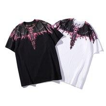 19ss Marcelo Burlon T Shirt Men Women Italy Brand Purple Flame Wings Summer T-shirt Streetwear Harajuku Tshirt