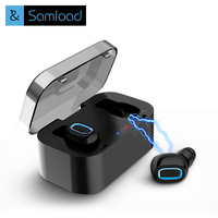 Samload Bluetooth Earphones True Wireless Dual Mini Earbuds Stereo Headphones In Ear Headsets Sport Earpiece With