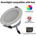 Zigbee rgbw downlight proyector compatible con puente 1.0 y 2.0 control remoto app by tono tono 7 w última llegada