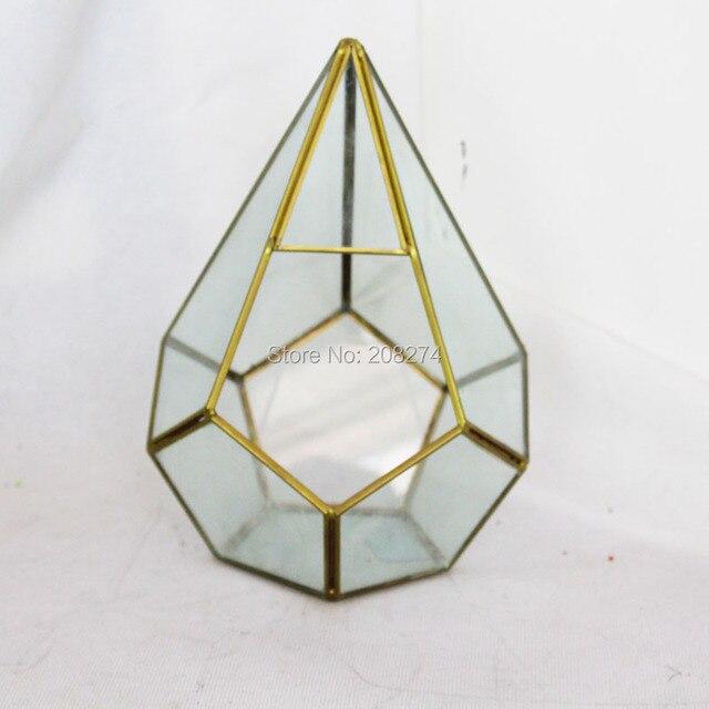 Ручной бонсай позвоночного стекла, металла геометрический Террариум сочные папоротник Moss Настольный плантатор Террариум коробка микро пейзаж