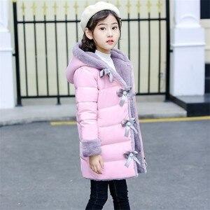 Image 4 - 2020 yeni kız moda kış taklit kürk ceketler sıcak parka çocuk bebek giysileri çocuklar kalınlaşmak artı kadife giyim 30