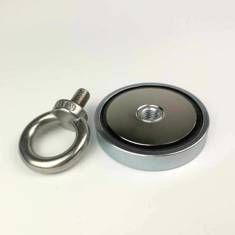 1 stücke D67mm neodym suche topfmagnet mit einer ringschraube recovery angeln magnet leuchte antenne magnethalterung basen