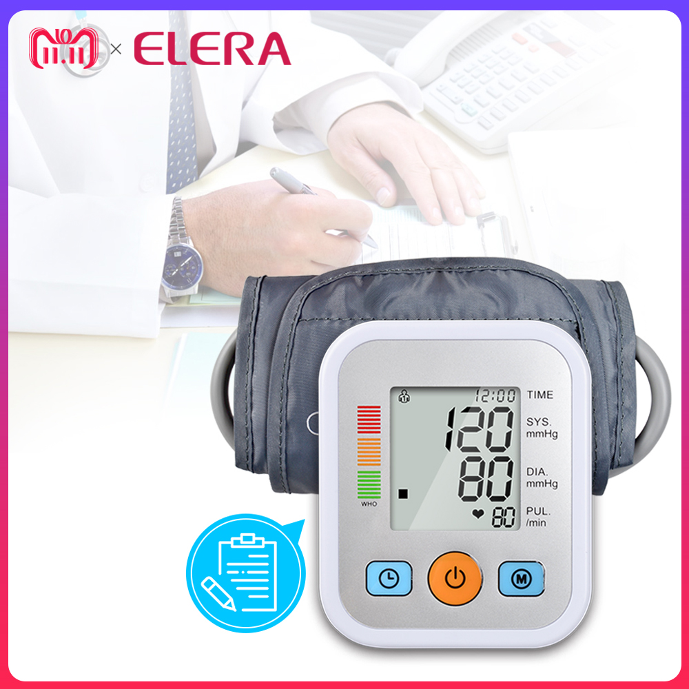 ELERA Home Health Care Digitale Blutdruck Monitor Tragbare Meter Maschine blutdruckmessgerät Tonometer für Mess Automatische