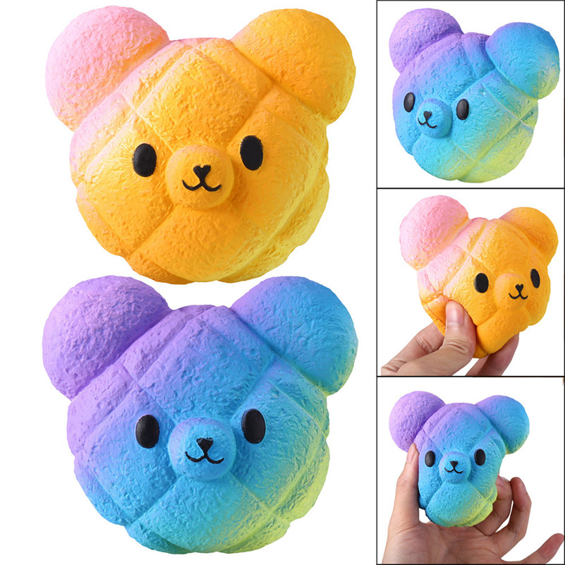 1pcCute Mochi   Kawaii Cartoon Galaxy Bear Squishy Slow Rising Cream Scented Stress Reliever Toy  For Children For Kid A1