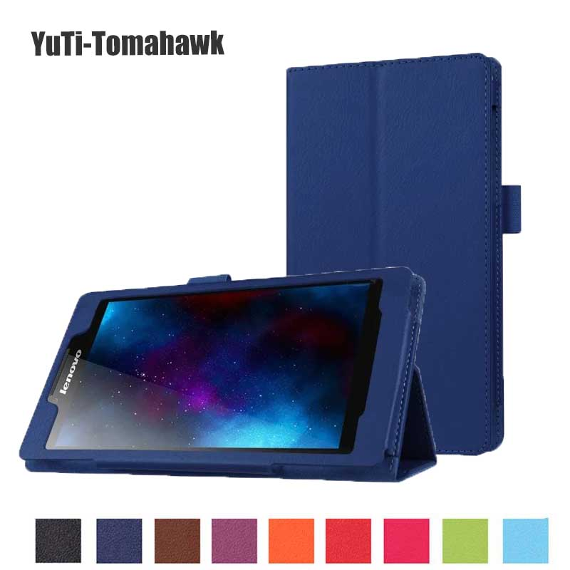 HOT ! Cover Case For Lenovo Tab 2 Tab2 A7-20 A7-20F A7 20F 7 Tablet Stand Leather Cover Litchi Protective Folio Skin Shell Case