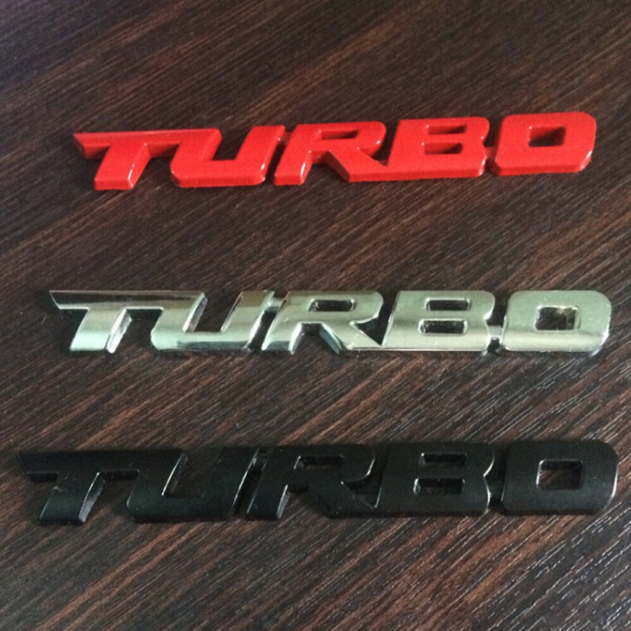 20 Pieces Lot Wholesale 3d Metal Turbo Emblems Badges
