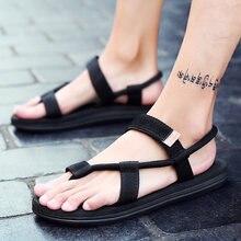 Sandales gladiateur pour hommes, chaussures d'été romaines de plage, tongs, pantoufles plates, sans lacet