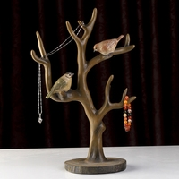 Творческий природные смолы Товары для птиц дерево Рамки украшения дома комод для украшений полки Винтаж ремесел офисная фигурки отправлен