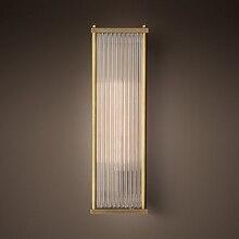 Lámpara de pared grande Vertical H50cm para sala de estar, barra de vidrio Rectangular, accesorios de pared, lámpara Led para pasillo