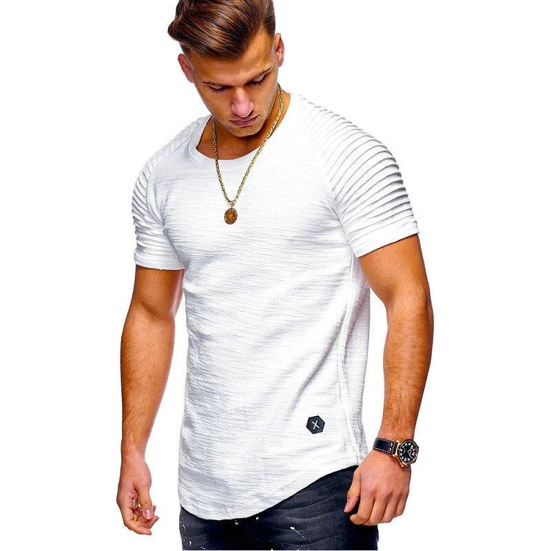 2019 new summer men short sleeve   t     shirts   cotton blends solid slim fit men tee   shirt   homme drop shipping LBZ48