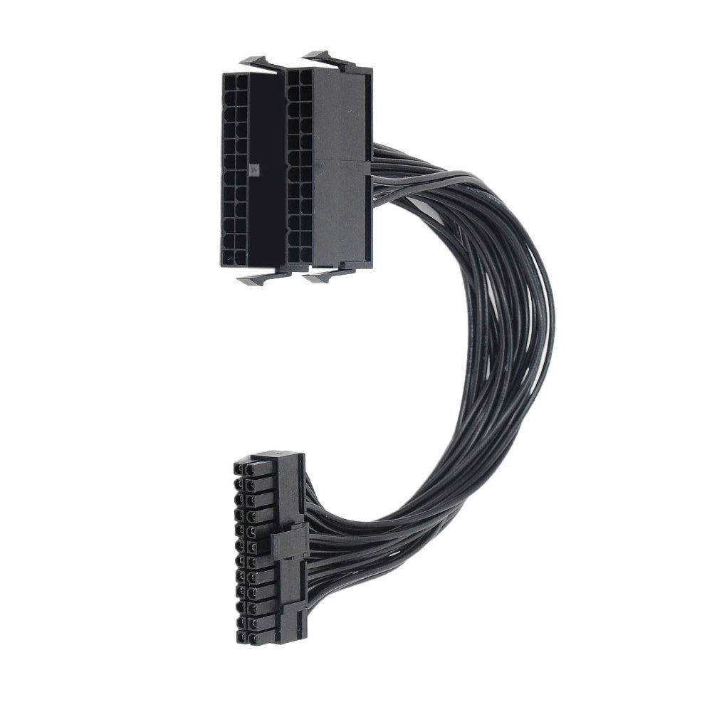 24-pin To Dual 24-pin ATX Power Supply Connector Splitter Dual-PSU ATX Adapter
