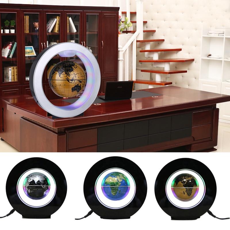 все цены на 4 Inch LED World Map Globe Lamp Light Electronic Magnetic Levitation Glowing Lights Magnetic Levitation Lights Wedding Gift онлайн