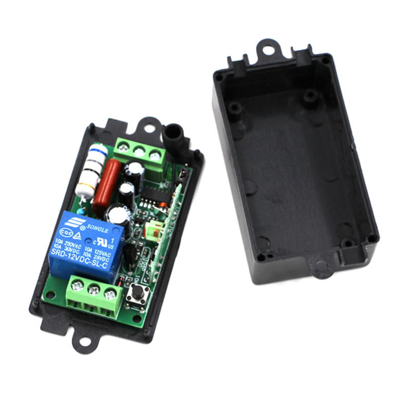 AC220V 110V 1CH 10A Remote Control Light Switch Relay Output Radio Receiver Module + CaseAC220V 110V 1CH 10A Remote Control Light Switch Relay Output Radio Receiver Module + Case