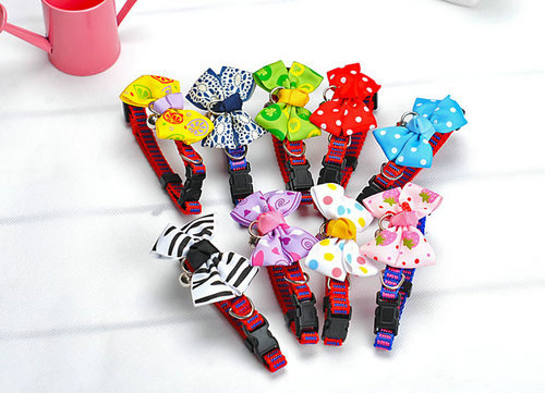 2062# Pet Grooming Pet Bowtie Dog Bowtie Dog Charm Dog Necklace Dog Collar Cat Collars Ribbon Bowknot More Colors S/M 1PC