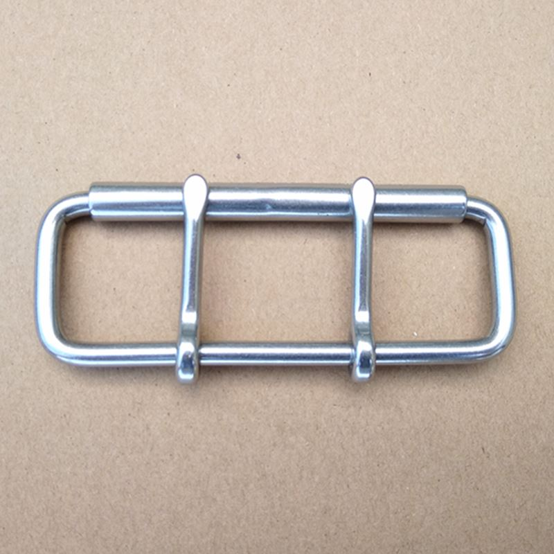 Stainless Steel Double Pin Buckle For Weightlifting Belt Buckle With Roller 4 Inch Garment Accessories Bag Fasteners 5 Pieces