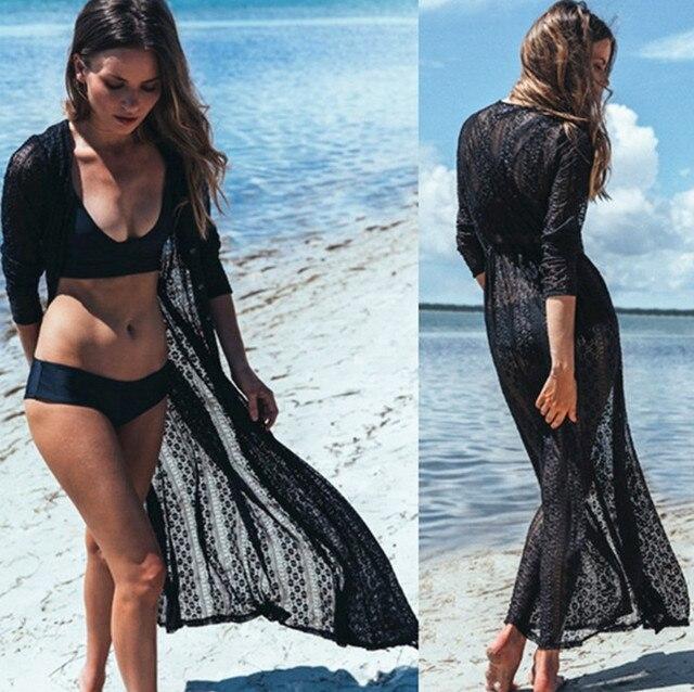 5686e9b23 2017 de alta calidad Encaje bikini cover UPS playa vestido de mujer Vestido