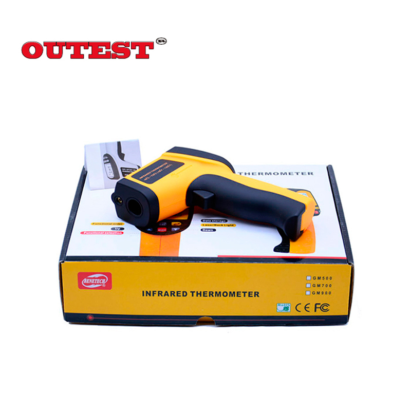 Digital IR infrared thermometer  Non Contact Laser Point gun infrared thermometer -58 ~700C Free Shipping GM700(With Box) 2017 bside btm21c infrared thermometer color digital non contact ir laser thermometer k type 30 500 led
