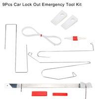9pcs Car Emergency Door Open Lock Out Repair Tool Kit Set For Universal