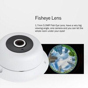 Image 4 - オーディオ魚眼レンズ FHD 1920 × 1080 1080P 2.0MP 3 アレイ Led ナイトビジョンパノラマ IP カメラセキュリティ ONVIF P2P IP CCTV カムシステム