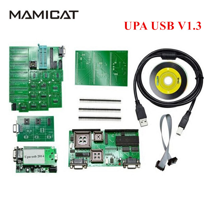 2017 New Green Full Sets UPA USB V1.3 ECU Chip Tuning Full Adapters UPA-USB ECU Programmer Auto ECU Tool Function Stable надувная мебель