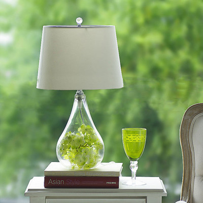 buy home decorative flower vases bedside table lamp glass crystal diy table. Black Bedroom Furniture Sets. Home Design Ideas