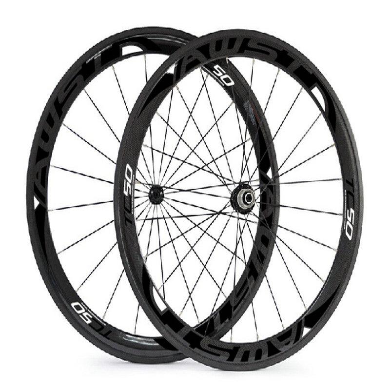 AWST TC50  UD matt weave 50mm full carbon bicycle road wheels black decal cycling wheels 23mm V shaped taiwan carbon wheels