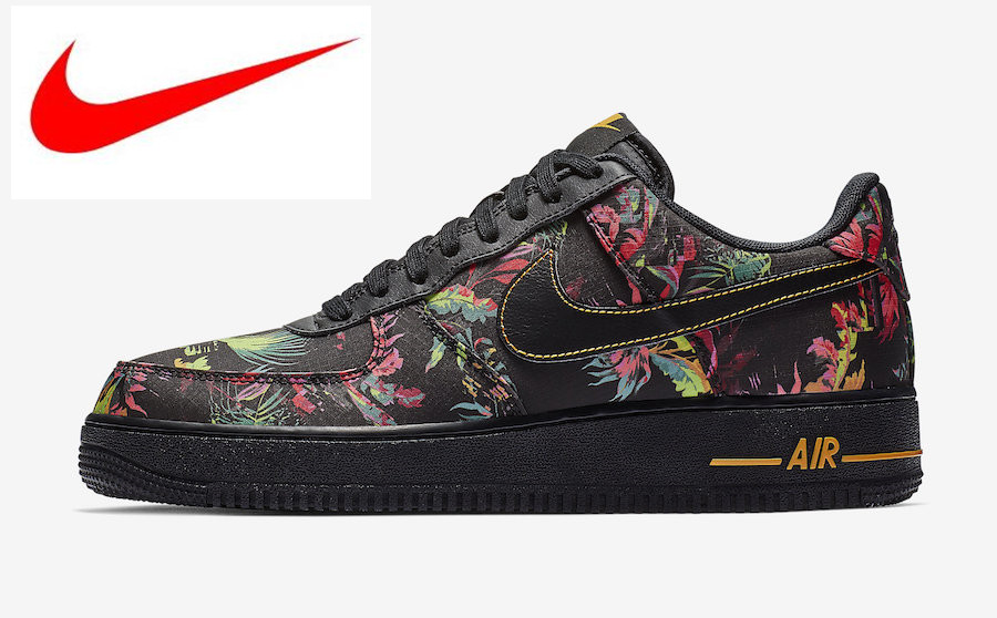 5db230951a8d7 Original Nike Air Force 1'07 LV8 Black Floral Men's Skateboard Shoes,  Outdoor Sneakers outdoor sport shoes BV6068 001-in Skateboarding from  Sports ...