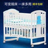Надежда детская кроватка из массива дерева multi function Европейский детский кровать, детская кроватка кровать новорождённого кровать для игр ш