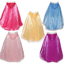 Girls Faux velvet Cape Cloak Flower Girl elsa Dress's Coat Princess Wedding Shawl Cape for Girls Tippet Bolero Kids Jacket Wrap(China)