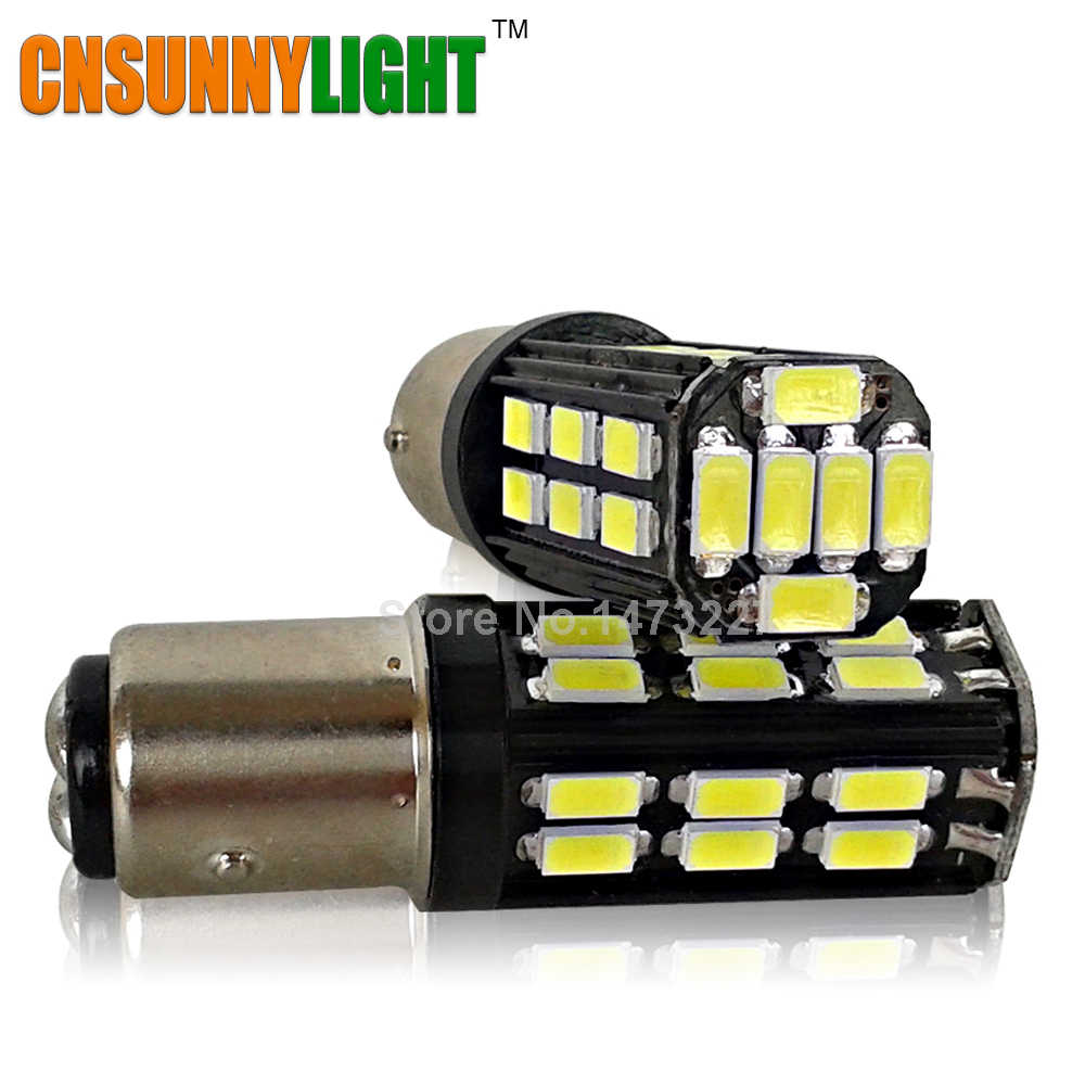 CNSUNNYLIGHT 1157 5730 LED 30SMD S25 P21W BA15S Backup Light 12V 24V Car Led Reversing Bulb Brake Lighting