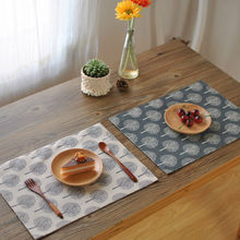 2016 Top A quality 4pcs 100% linen fabric  Placemats for Dining Table Runner Linen Place Mat in Kitchen Cup Wine Mat Coaster Pad