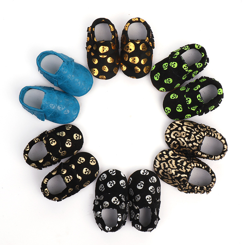 Genuine Leather Baby Shoes Halloween Soft Bottom Toddler Shoes Boy Newborn Shoes First Walkers Baby Moccasins