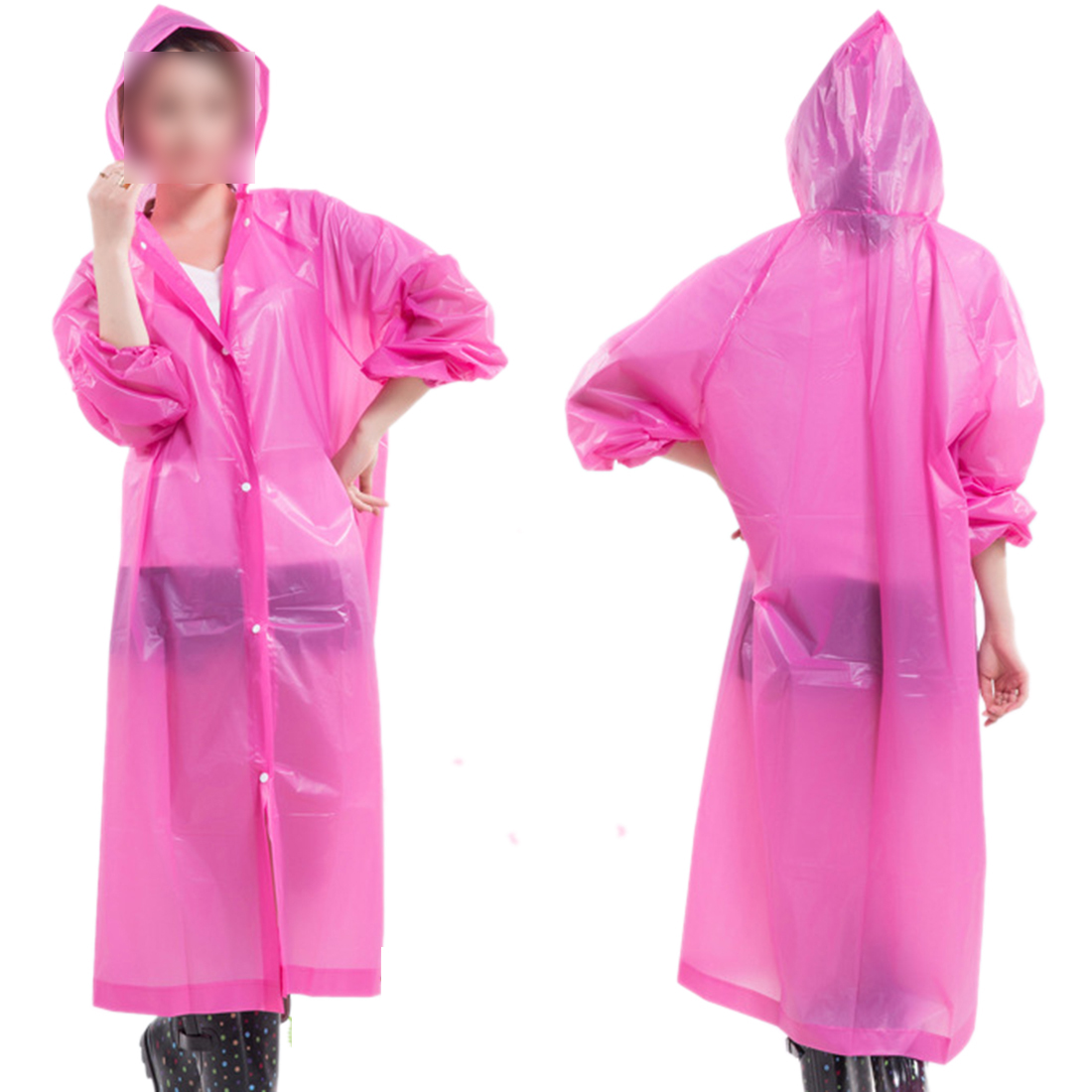 Adult Men Women Raincoat Fashion Portable Lightweight Hooded NOT Disposable Raincoat Reusable Rainwear ...