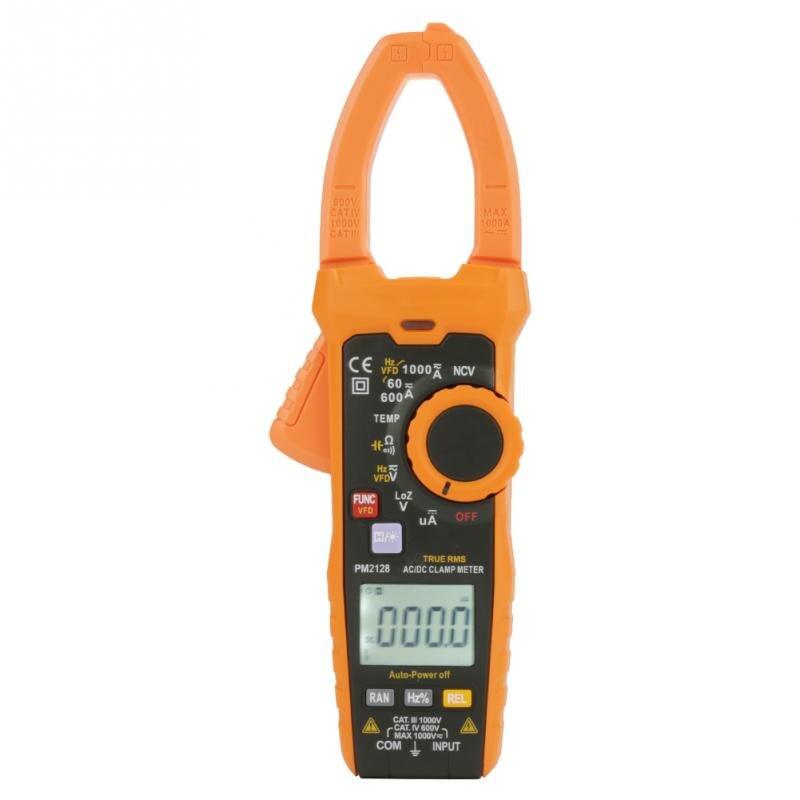 PEAKMETER PM2128 AC DC Voltage Current Clamp Meter Handheld Digital Tool Resistance Capacitance