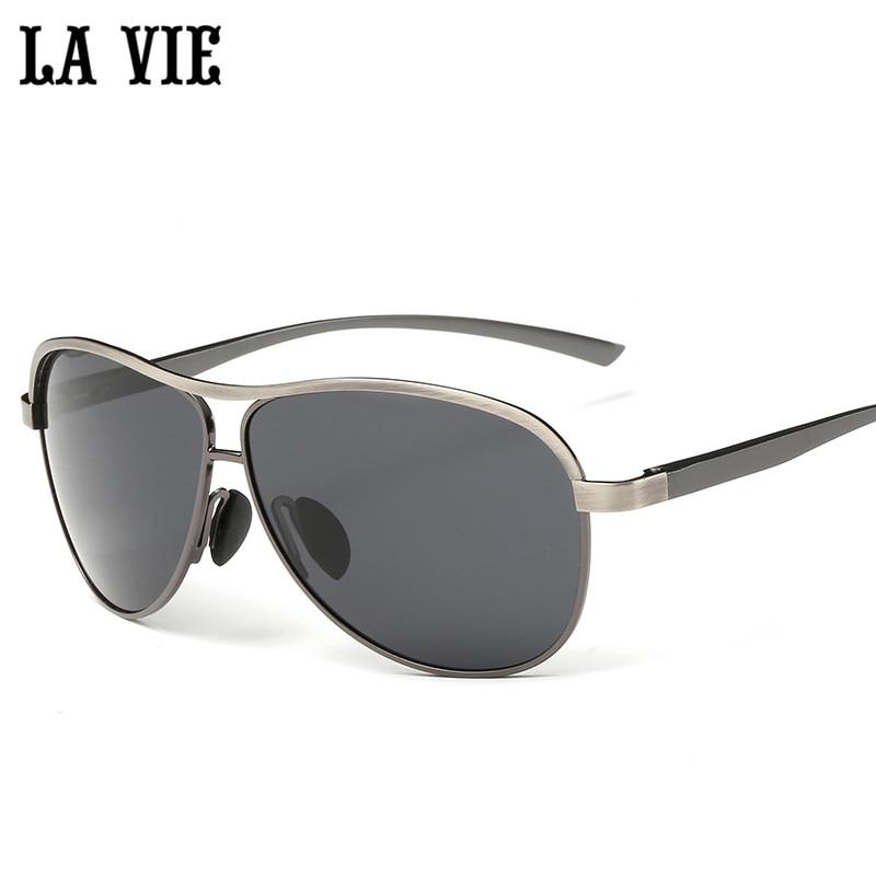 LA VIE Polarized Cool Alloy Men Sunglasses Retro Design Aluminum Magnesium Frame Male Sun Glasses LVA280