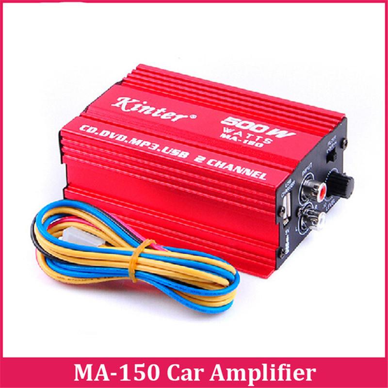 Prix pour Mini Numérique Stéréo Amplificateur Salut-fi 2CH 500 W USB Salut-fi Subwoofer pour Voiture Moto Bateau Kinter MA-150