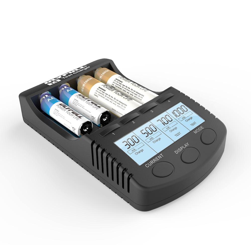 DLYFULL T4 18650 cargador USB cargador de batería AA AAA LCD inteligente nimh nicd li-ion cargador de batería 18650 cargador de pilas aa aaa