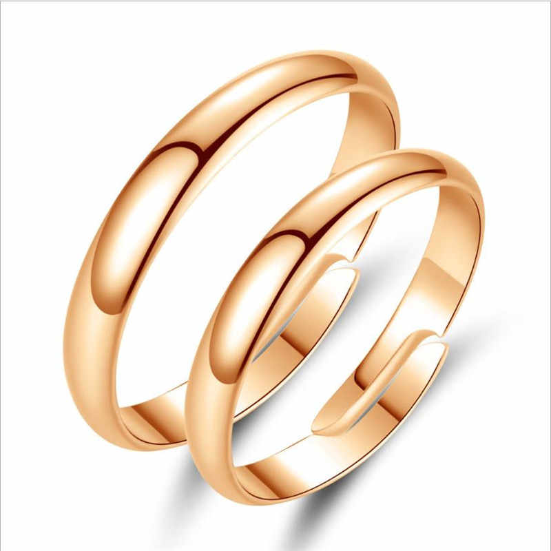 Everoyal อินเทรนด์ 925 เงินสเตอร์ลิงแหวนสำหรับเครื่องประดับสตรีแฟชั่น Rose Gold คู่แหวนสำหรับเจ้าสาวงานแต่งงานอุปกรณ์เสริมร้อน