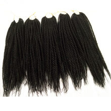 12 18Inch 5Pack Pervado Hair Micro Small Senegalese Twist Crochet Braids Hair 30Root Synthetic Pretwist Hair Braiding Extension(China)