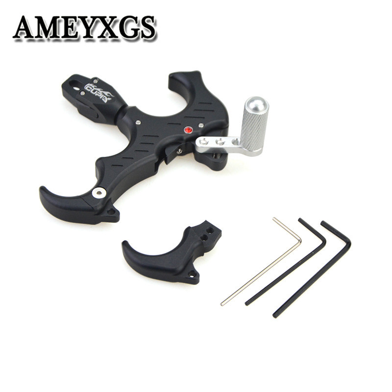 1Pc Release Aids Adjustable 3 or 4 Finger Grip R L Hand Compound Bow Release For