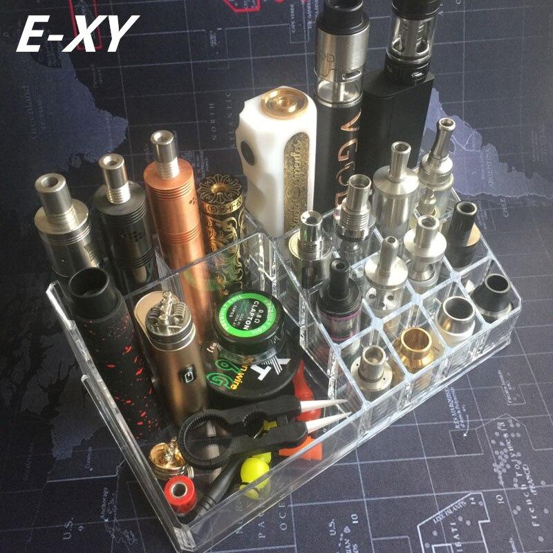E-XY Vape boîte Mod Ego bouteille vapeur RDA RTA réservoir atomiseur batterie magasin Dispay étagère support Base électronique cigarettes accessoires