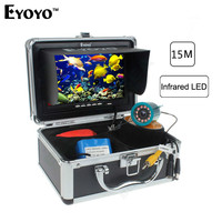 Eyoyo Professional Fish Finder 15M Underwater Camcorders For Fishing Video Camera 12pc Infrared Light WIFI Sounder