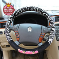 38CM auto supplies new steering wheel cover cartoon Plush cute girl heart universal direction sleeve