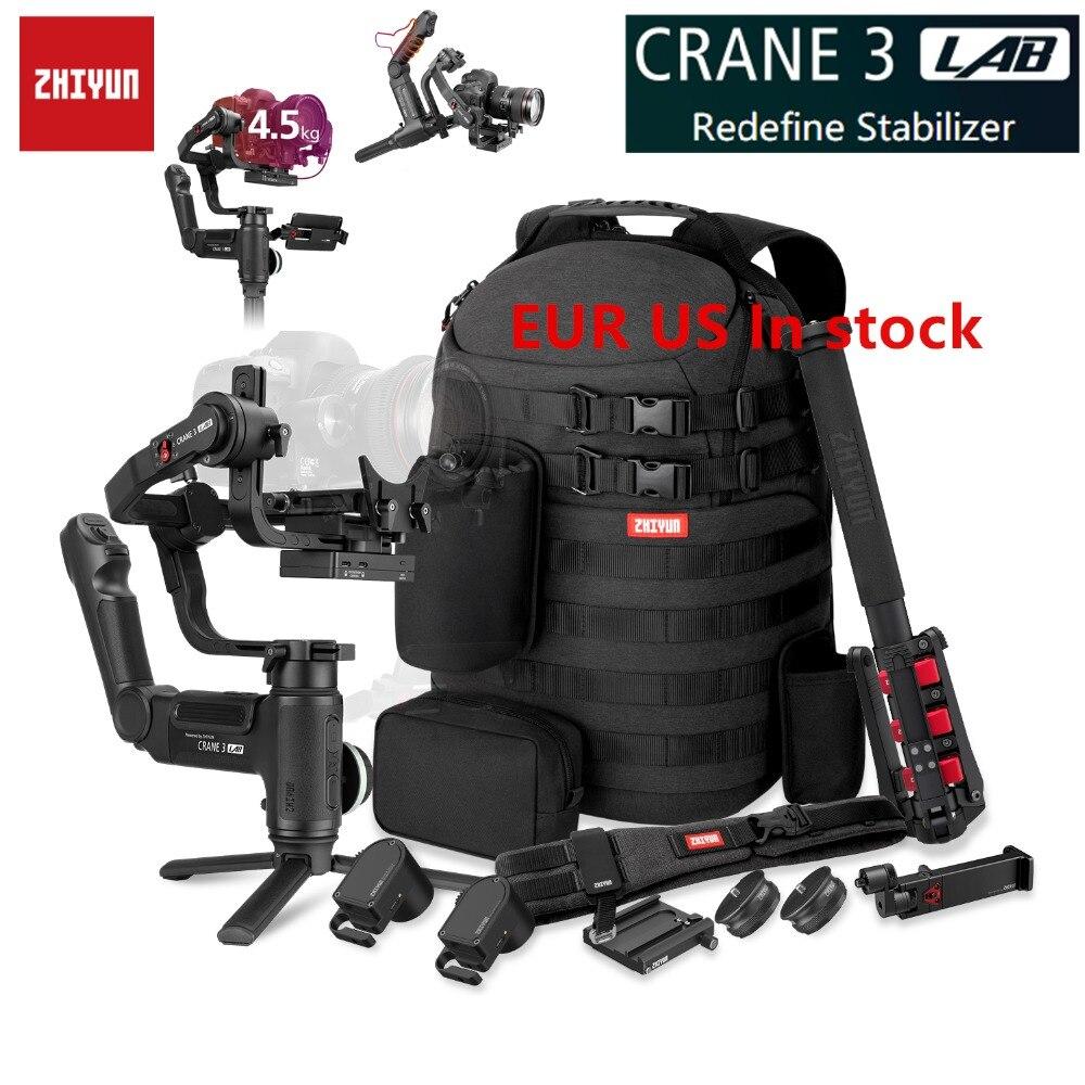 Zhiyun Grue 3 Laboratoire Grue 2 Mise À Niveau Version 3-Axe stabilisateur de cardan pour appareils photo reflex numériques, 1080 P Full HD Sans Fil Image Transmission